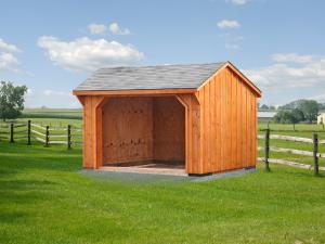 Shed Picture info: Size: 10 x 12 • Siding: Board & Batten • Shingles: Weatherwood • Options: Stain of your choice • Gable overhang