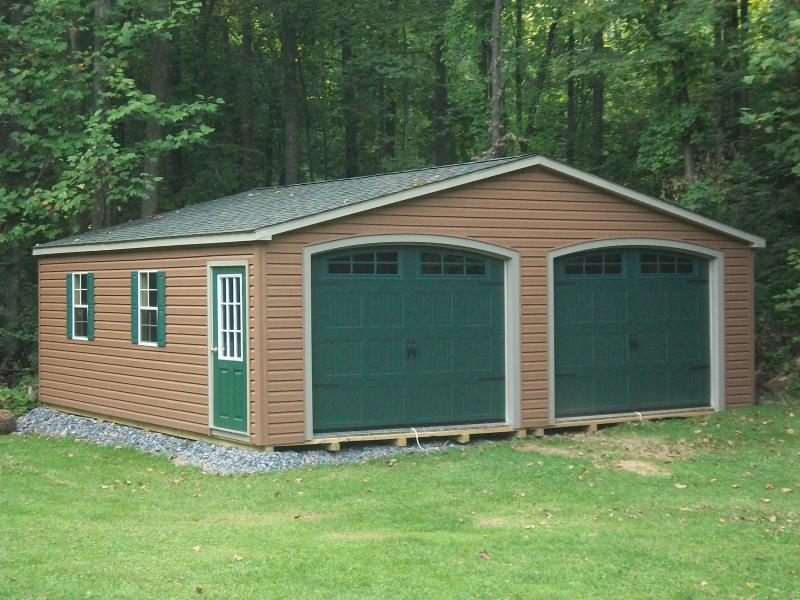 custom siding double wide garage - custom doors