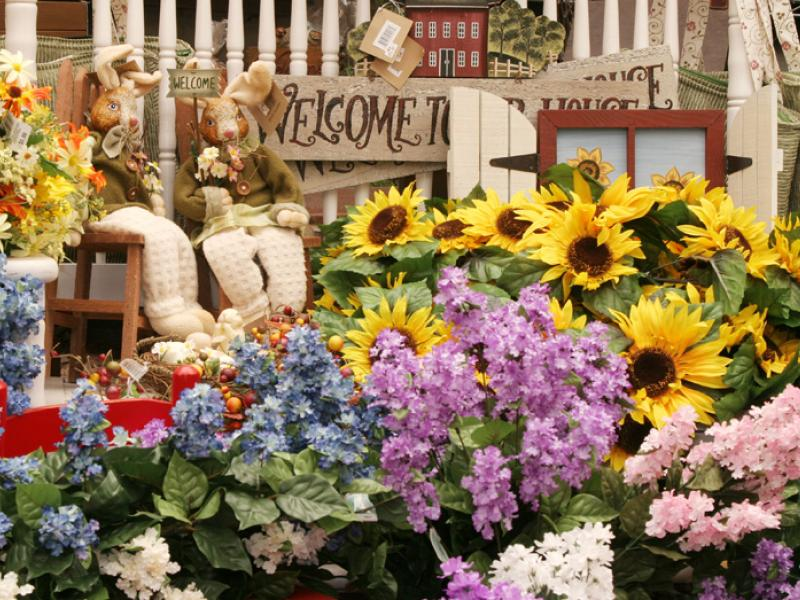 Country decorative flowers