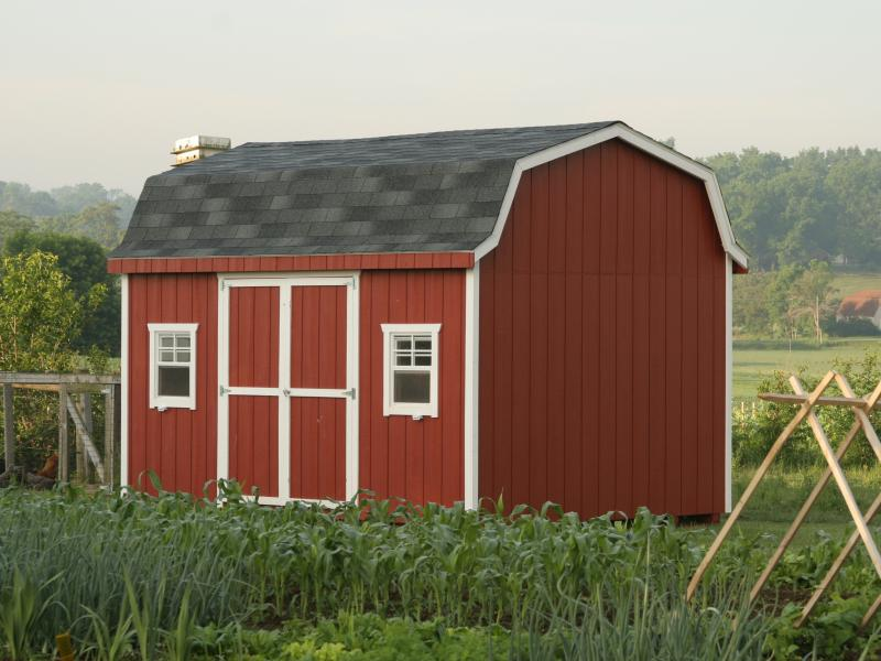 Holland barn rebuild lives with your storage shed purchase for 18x27 window