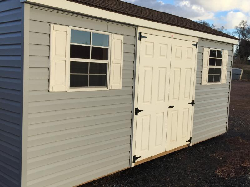 8x16 Vinyl Aframe - BARN209 - In-Stock Storage Sheds - Jonestown, PA