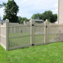 Beige vinyl picket fence in Harrisburg PA