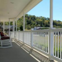 White vinyl porch railing in Lebanon PA